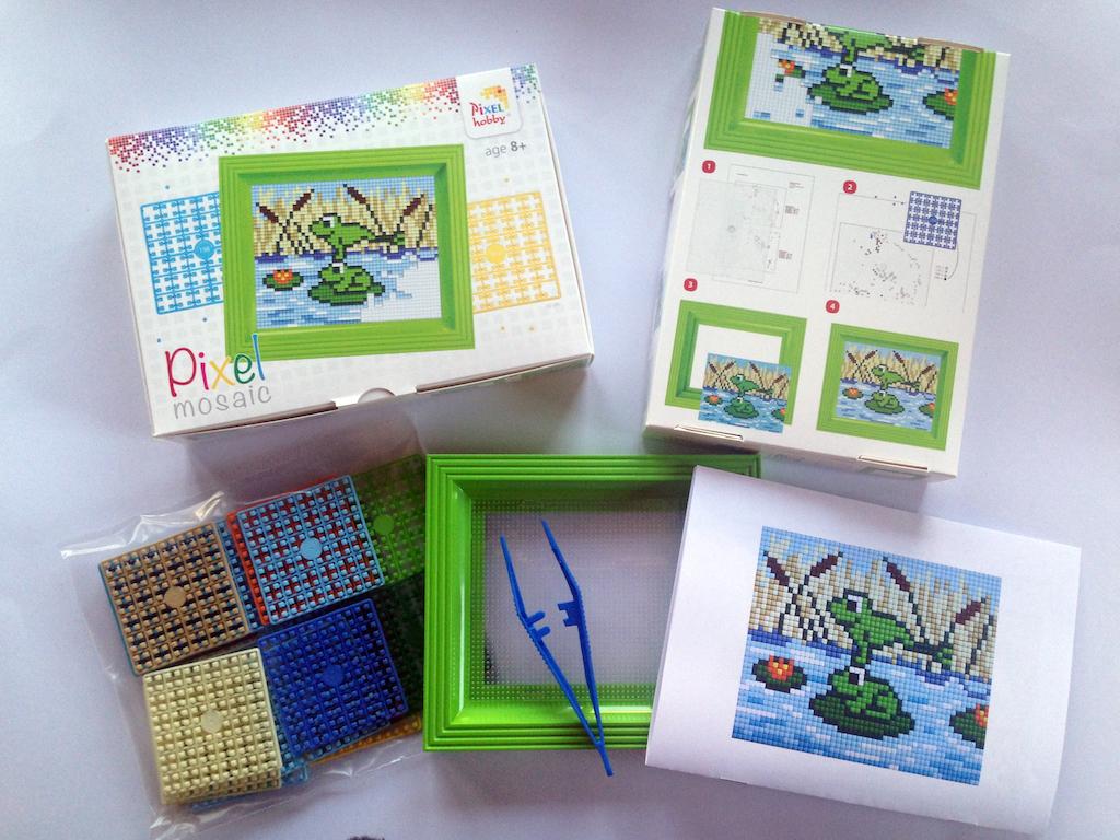 Pixelbild-Set-Muster-Frösche